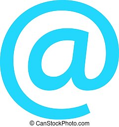 Flat icon email sign e-mail button at pictogram