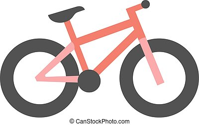 Flat icon - Fat tyre bicycle