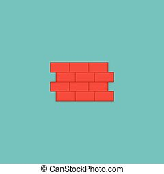 Flat Icon Fence Element. Vector Illustration Of Flat Icon Brick Wall Isolated On Clean Background. Can Be Used As Fence, Brick And Wall Symbols.