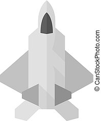 Flat icon - Fighter jet