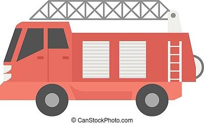 Flat icon - Fireman car