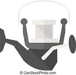 Flat icon - Fishing reel - Fishing reel icon in flat color...