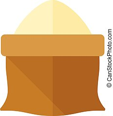 Flat icon - Flour sack