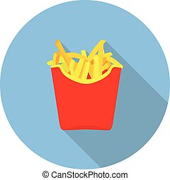 flat icon fries