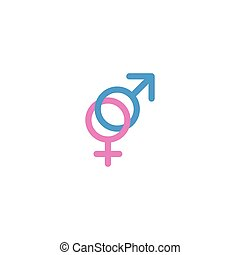 Flat Icon Gender Signs Element. Vector Illustration Of Flat Icon Sexuality Symbol Isolated On Clean Background. Can Be Used As Gender, Sign And Sexuality Symbols.