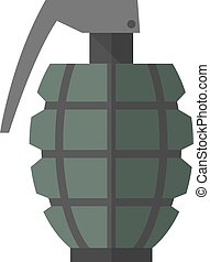 Flat icon - Grenade - Grenade icon in flat color style....