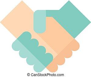 Flat icon - Handshake