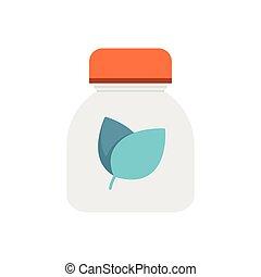Flat Icon Herbal medicine bottles icon