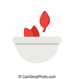 Flat Icon Herbs in bowls icon