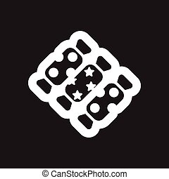 Flat icon in black and white candies