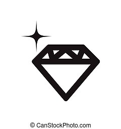 Flat icon in black and white diamond