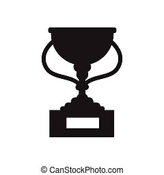 Flat icon in black and white football cup - Flat icon in...