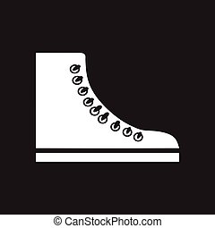 Flat icon in black and white gumshoes
