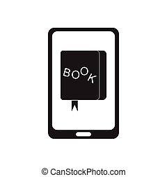 Flat icon in black and white mobile app