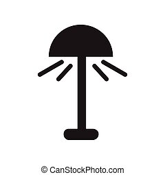 flat icon in black and white style lamp