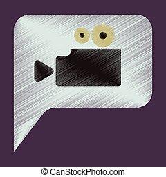 Flat Icon in Shading Style cinema camera