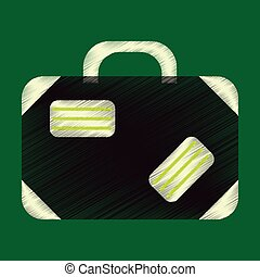 Flat Icon in Shading Style suitcase