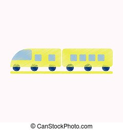 Flat Icon in Shading Style train