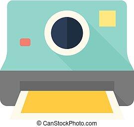 Flat icon - Instant camera