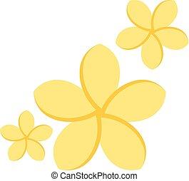 Flat icon - Jasmine flowers - Jasmine flowers icon in flat...