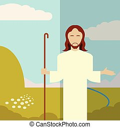 Flat icon Jesus1 - Vector image of a Flat icon Jesus