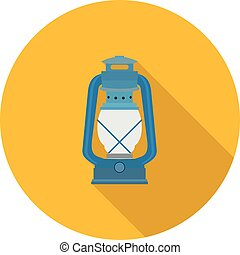 flat icon kerosene lamp in vector format eps10