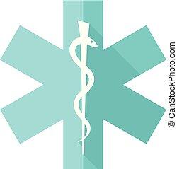 Flat icon - Medical symbol
