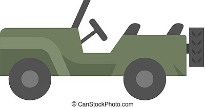Flat icon - Military vehicle