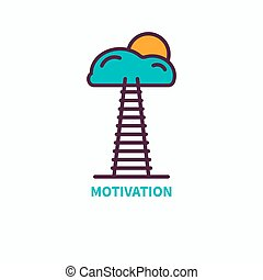 Flat icon motivation
