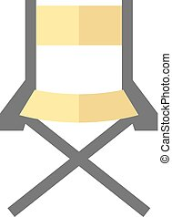 Flat icon - Movie director chair