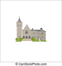 Flat icon of Baptist Church