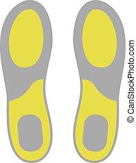 Flat Icon of Shoe Insoles Isolated on White Background. ...