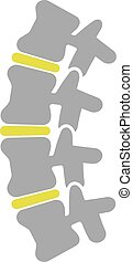 Flat Icon of Spine Isolated on White Background. Vector...