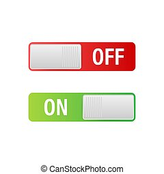 Flat icon On and Off Toggle switch button vector format. Vector stock illustration.