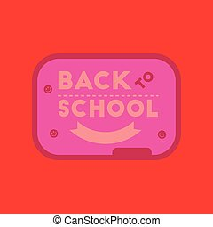 flat icon on background Back to school board