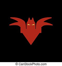 flat icon on background halloween bat