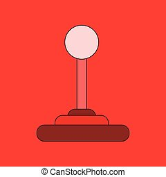 flat icon on background joystick