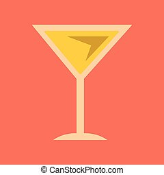 flat icon on background martini glass