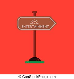 flat icon on background sign entertainment