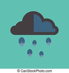 flat icon on stylish background cloud hail