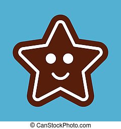 flat icon on stylish background Gingerbread Christmas