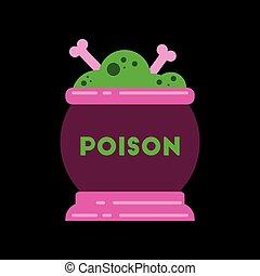 flat icon on stylish background potion cauldron