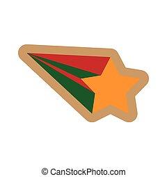 flat icon on white background Christmas star