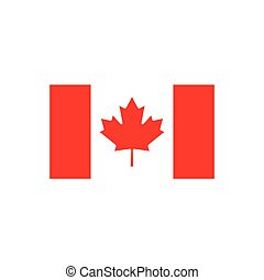 flat icon on white background  flag of Canada