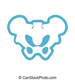flat icon on white background human pelvis