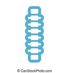 flat icon on white background human spine