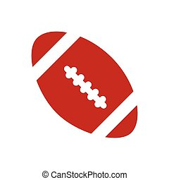 flat icon on white background rugby ball