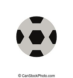 flat icon on white background  soccer ball
