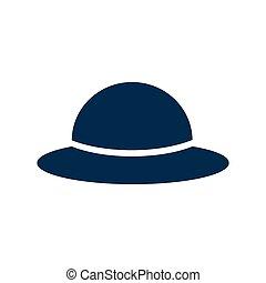flat icon on white background women's hat