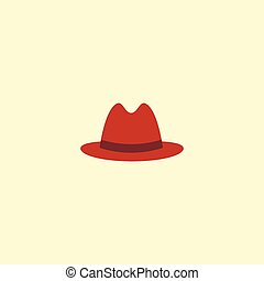 bd3e0d40ce9 Flat Icon Panama Element. Vector Illustration Of Flat Icon Fedora Isolated  On Clean Background.